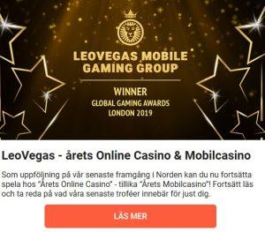 LeoVegas erbjuder dig ett grymt välkomsterbjudande!