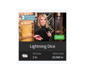 Spela Lightning Dice nu på Betsson!