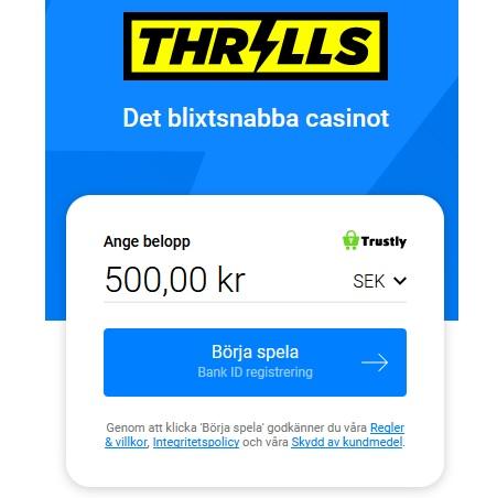 Populära mobilcasinon idag - Thrills!