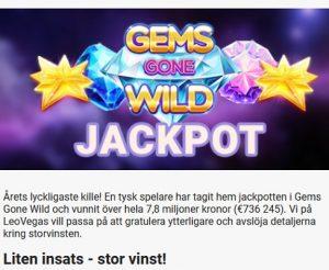 Vinn din egen casinovinst på LeoVegas!