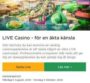 Försvinner live casino på Mr Green nästa vecka?