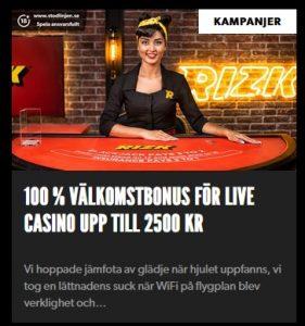Spela jackpottar timvis på Rizk Casino!