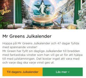 Årets Julkalender 2019 på Mr Green!