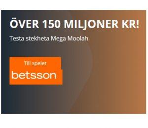150 miljoner kronor Mega Moolah Betsson Casino!